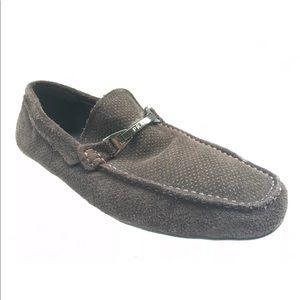 Prada men's suede loafer shoe